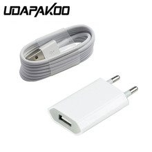 For Iphone 6 plus 5/5s/5c Power US/EU Chargers Adapter & USB Charging Charger Cable (White) Free For Mobile phone accessories(China)