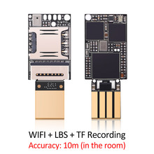 20*13mm Mini WIFI Tracking Accuracy 10m LBS gsm tracker with microphone TF card recording Voice recorder SMS Alarm for personal