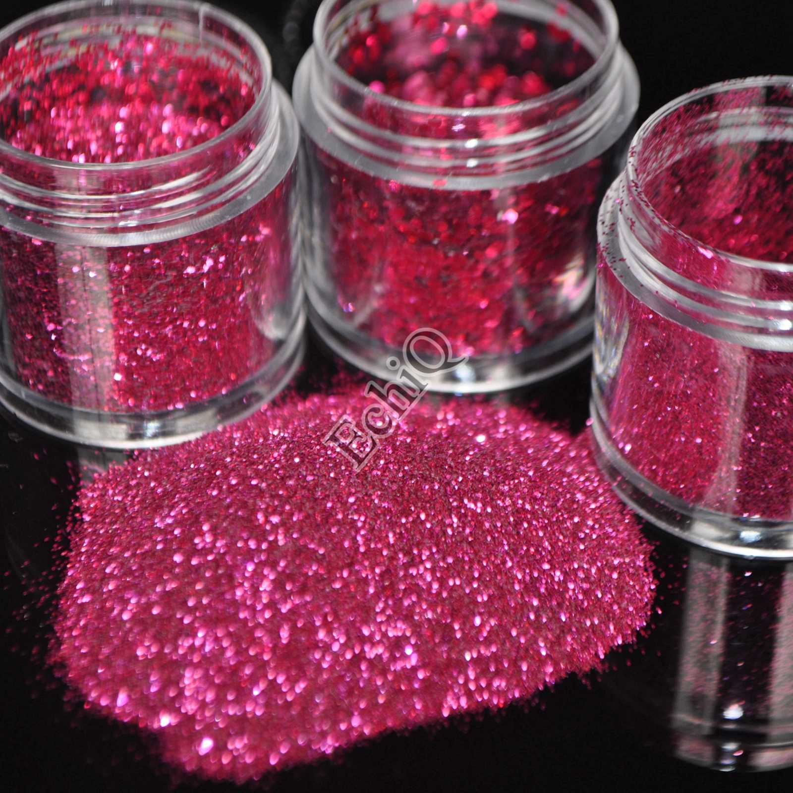 Detail Feedback Questions about 1pcs Deep Hot Pink Sparkle Nail ...