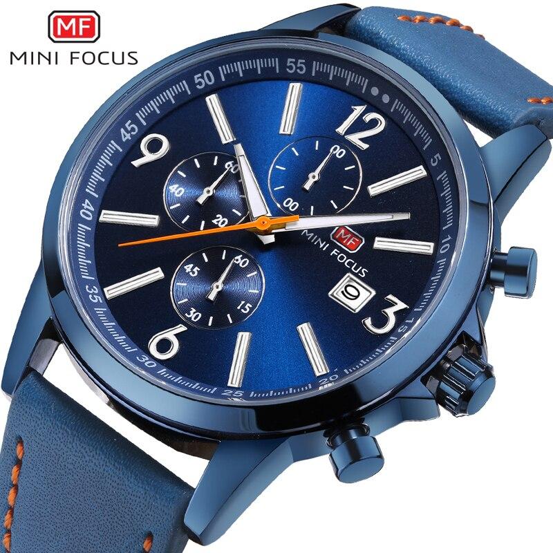 MINIFOCUS Luxury Fashion Casual Men Watches Mens Sports Watch Quartz Male Wristwatches Relogio Masculino Montre Homme Man Clock<br>