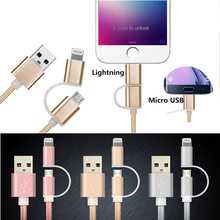 FSTONG Mini USB 3.0 Extension Cable 2-in-1 Lightning to USB Data Sync Charge Cable for ipod Shuffle xiaomi etc 1.2M/4ft DU002-1