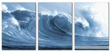 Hand Painted Ocean Waves Oil Painting On Canvas Mural 3 Panels Modern Wall Painting Wall Picture Seascape Home Decor
