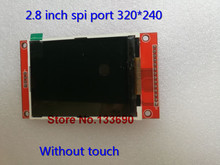 2.8 inch TFT LCD Module without Touch Panel ILI9341 Drive IC 240(RGB)*320 SPI Interface (9 IO)(China)