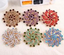 brooch flower jewelry scarf pin hijab jewel scarf pin high reflective big size fancy FREE ship 12pc/lot(Hong Kong)