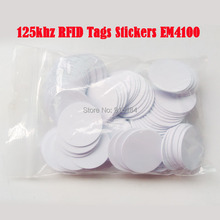 (10 pcs/lot) 125khz RFID Tags Stickers EM4100 waterproof Adhesive 3M Gule Label Proximity Smart Card for Access Control(China)