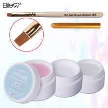 Elite99 Gel Manicure Extension Tips Clear Pink White with Nail Brush Pen UV Gel Builder
