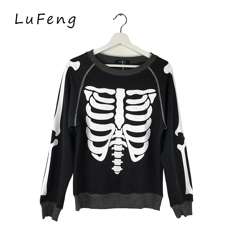 Skeleton Sweatshirt Harajuku Kpop Truien Dames Tra...
