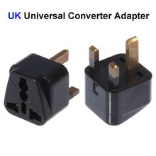 300pcs High Quality US EU AU To UK Plug Adapter United Kingdom Universal AC Travel Power Adapter Converter Outlet(China)