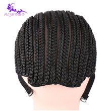 Easier Sew Black Cornrow Braids Crochet Wig Caps For Making Wigs 1-10pcs Lace Wig Caps Elastic Weaving Net Mesh Caps For Wigs
