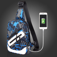 Multifunctional Messenger Bag Outdoor Sport Rucksack Canvas Crossbody Bag with USB Charging Port Cartoon Travel Backpacks 2017(China)