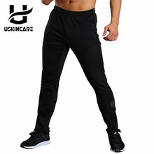 USKINCARE Sport Pants Men Running Fitness Sportswear Black Straight Outdoor Pants Breathable Male Cycling Hiking Pants Trousers