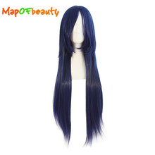 MapofBeauty long Straight cosplay wigs black blonde orange blue brown green pink 11colors 80cm Synthetic hair Heat Resistant