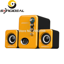 SONGIDEAL USB Powered Computer Speakers System for Gaming Music Movies Multimedia Stereo Subwoofers for Laptops PC MP3/4 Orange(China)