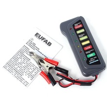 Mini 12V Car Battery Tester With 6 LED Lights Display Indicates Condition Automotive Vehicle Battery Analyzer(China)