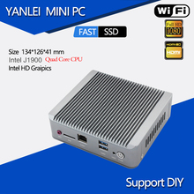 Mini Computer Desktop Celeron J1900 Quad Core CPU Micro PC 2 LAN With SSD Wifi 2/4/8GB RAM Even Embedded Modem Mobile Network(China)