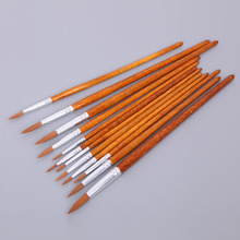 12Pcs Artists Paint Brush Set Nylon Hair Acrylic Watercolor Round Pointed Tip Drop Ship(China)