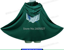 Attack on Titan Eren Jaeger Mikasa Ackerman Uniform Cloth Blue Cloak Cosplay Anime Costume S-3XL Free Shipping NEW