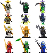 2017 New Decool Ninja Go Minifig Blocks Mini Kai Jay Cole Zane Lloyd Golden Gift Kids toys Compatible Lepine - AliExpress Children's Playground store