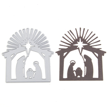 Jesus nativity scene metal die cutting create decoration Embossing Scrapbooking Steel Craft Dies cuts Stamps paper Cards Stencil(China)