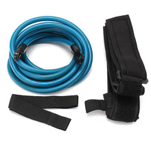 4m Adjustable Adult Kids Swimming Bungee Exerciser Leash Training Hip Swim Belt Cord Safety Swimming Pool Accessories(China)