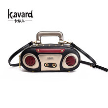 Kavard Brand 2017 Retro Radio Shape Bag Ladies Cute Handbag Shoulder Bag Messenger Bag Rock Crossbody Bag clutch bolsa feminina