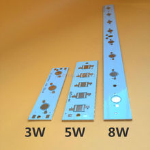10 Pcs/lot LED High power PCB Board Empty Plate Lamp Panel Aluminum Heat sink for 3W 5W 8W Strip Rectangle LED Lamp Base