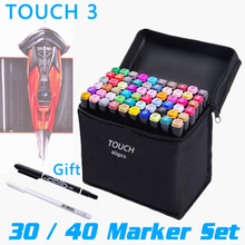30/40 Colors TOUCH New Art Marker Set Sketch Painting Drawing Oily Alcoholic Based Liners Copic Markers for Art Supplies Manga