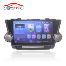 "10.2"" car radio for Toyota Highlander Kluger 2008-2012 android 6.0 car dvd player with bluetooth,GPS,SWC,wifi,Mirror link,DVR(China)"