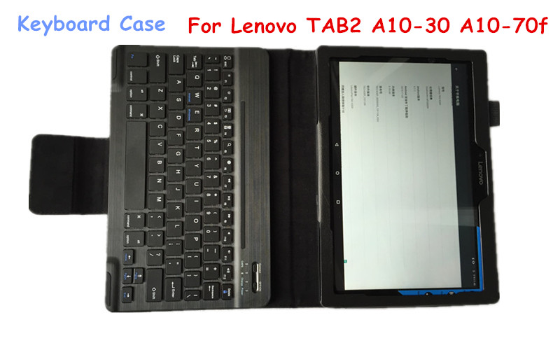 TAB3 10 Keyboard CASE For Lenovo TAB2 TAB3 A10-70L A10-30 A10-70F X70F 10.1 Bluetooth Keyboard Case Detachable Wireless<br>