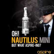 5Pcs/Lot 2Ml Mini Nautilus Vaporizer Aspire BVC Nautilus Mini Clearomizer Portable Mini Nautilus Glassomizer 510 Atomizer Kit(China)