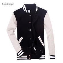 2017 Brand Clothing Baseball Jacket Men Sweatshirt College Sportswear Jackets Casual Slim Fit Jacket Mens Clothing 10 Colors
