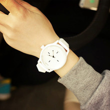 Unisex Men Women Lover's  Quartz Analog Wrist Watch Watches White Black Silicone Women's Watch Watches For Female Male Student