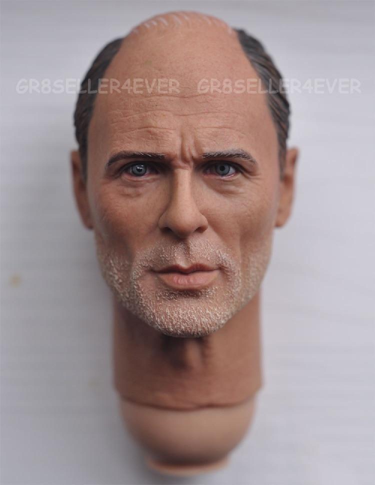 1/6 male Head Sculpt  for 12 Action Figure body  soldier head model toy World War II sniper Colonel Corny Corning Baldy<br>