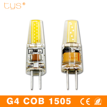 Bombillas LED Bulb G4 220V 6W Dimmable Lampada LED Lamp G4 AC DC 12V COB Led Lights 360 Beam Angle Chandelier Replace Halogen