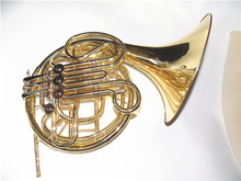 Bb Double Row French Horn Four Flats Brass Material with Foambody case professional musical instruments
