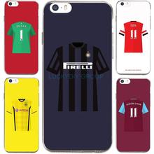 For IPhone7 7Plus 4 5S SE 6 6S Case For BVB Madrid Juventus Football Club Jersey Transparent Silicone soft slim Tpu Phone Cover