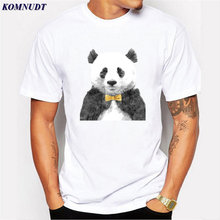 KOMNUDT China Giant Panda Design Men T-Shirt Short Sleeve Fashion 3D Printed Plus Size Basic Tops Summer Cool Tee High Quality(China)