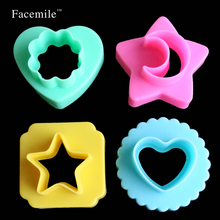 Facemile Moon Star moon flower heart Cookies Mold Gigt Cutter Fondant Gigt Paste Sugarcraft Plunger Cutter Decorating Mold 01034