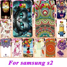 Soft Silicon TPU Or Plastic Phone Cases For Samsung Galaxy SII I9100 S2 GT-I9100 4.3'' Cases Bag 18 Style Painted Back Covers