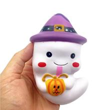 Wholesale Squishy Kawaii Ghost Squeeze Rising Fun Halloween Gift Phone Strap Anti Stress Novelty Funny Gadgets Interesting Toys(China)