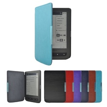 PU Leather eBook Case For Pocketbook 626 Plus Lux 3 Funda Slim Magnet Flip Cover For Pocket Book Touch 614 624 640 eReader Cases