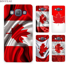 BINYEAE Canada Flag Clear Transparent Cell Phone Case Cover for Samsung Galaxy A3 A5 A7 A8 A9 2016 2017