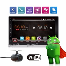 Quad Core 2 Din Pure Android 6.0 Car DVD Player Navigation Stereo Radio GPS WiFi 3G CAPACITIVE Touch Screen Back Camera Car PC(China)