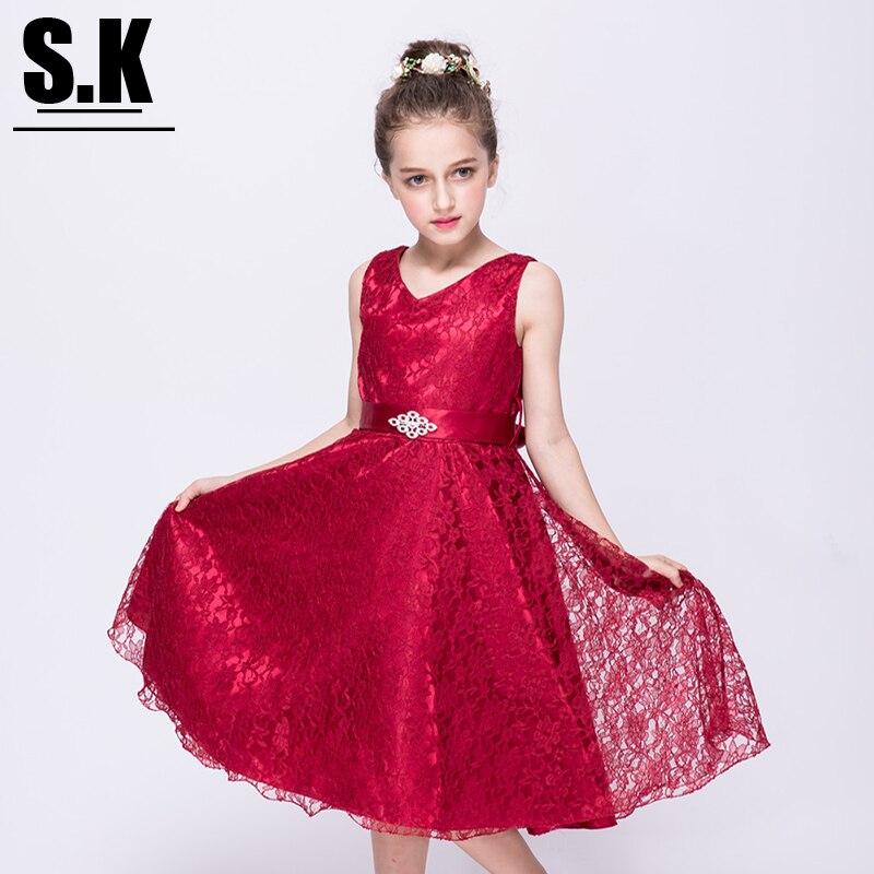 SK Brand 3-12T Mesh Girls Lace Tutu Dress 2017 Children Girls Clothing Kids Party Dresses for Girls Fashion Dance Dress<br><br>Aliexpress
