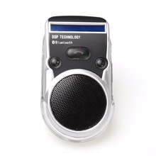 New Hot Bluetooth Handsfree Car Kit Solar Powered LCD Display Caller ID Bluetooth Speaker with Car Charger Bluetooth Car Kit(China)