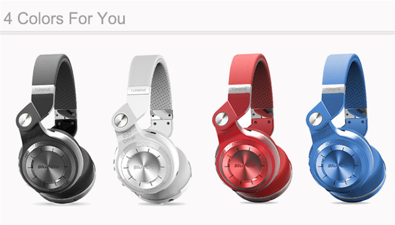Bluedio T2+ fashionable foldable over the ear bluetooth headphones BT 4.1 support FM radio& SD card functions Music calls (2)