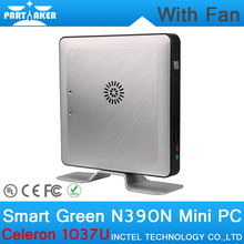4G RAM 128G SSD Micro Computer with Fan in China Intel Celeron 1037U CPU Mini PC 12v with Fan(China)