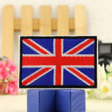 1 Pc Custom Embroidery Patches/UK Flag Embroidery Patches/high Quality Flag Patch For Underwear/ Fashion Accessory On Sell