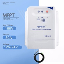 Tracer 3210CN 30A Mppt Solar Charge Controller 12V/24V Auto Solar Panel Battery Charge Regulator with Temperature Sensor
