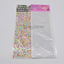 900pcs/paper 4mm Colorful Rhinestones Decal Accessories phone/pc/car DIY Decor Art Rhinestones Stickers Beauty Decor 6z